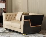 Italian light luxury leather sofa 123 combination of postmodern villa living room high-end INS web celebrity Hong Kong family furniture