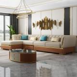 Microfiber leather Post-modern light luxury sofa combination living room small size Italian minimalist furniture