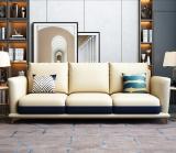 Microfiber leather Italian-style light luxury sofa Napapi postmodern simple leather model room furniture