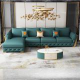 Microfiber leather sofa combination size family type modern simple leather sofa living room light luxury minimalist leather art corner sofa