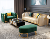 Microfiber leather light luxury, postmodern, simple sofa, sitting room, 123 people, combined size, Italian-style Scandinavian model room