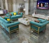 Light luxury corner fabric sofa three postmodern size living room Scandinavian L-shaped sofa set combination