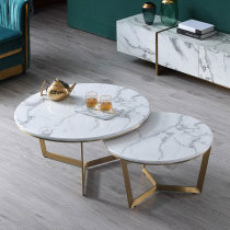 Customized Nordic marble sofa tea table small family living room corner edge a few corners a few simple light luxury balcony small round table