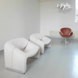 Danish curved single sofa leisure chair Nordic wabi-sabi style single chair web celebrity chair