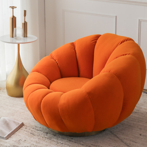 Single person small sofa lazy pumpkin sofa lounge chair Tedy velvet bedroom small balcony creative light luxury leisure web celebrity chair