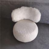 Light luxury wool chair casual lamb wool single household simple household chair versatile fashion leisure chair web celebrity pop chair