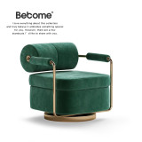 Light luxury single sofa chair simple modern leisure chair Italian designer creative stainless steel furniture