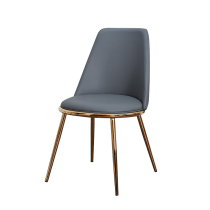 nordic furniture leather upholstered lounge chair sillas restsurantes hotel metal golden leg modern dining chairs