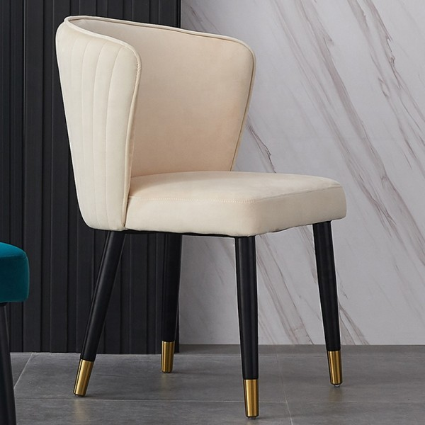 New Design Hot Sale Luxury Dining Room Furniture Velvet Fabric Dining Chairs Restaurant Dining Chair