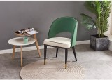 Modern Reception Hotel Cafe Chairs Fabric Velvet Dining Chair