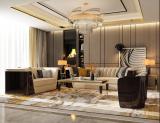 Light luxury sofa, postmodern simple villa model room, Hong Kong-style Italian large family, Versace customized microfiber leather