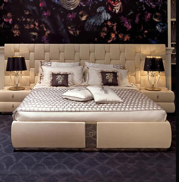 luxury italian bedroom set furniture king size modern italian latest double bed designer furniture set leather luxury bed