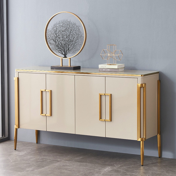 Post modern light luxury dining cabinet simple porch cabinet Nordic neoclassical hall cabinet American style floor cabinet storage cabinet