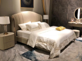 Hong Kong-style light luxury post-modern simple ultrafine fiber leather bed