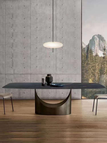 Italian style simple rock plate dining table