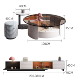 tea table and tv table