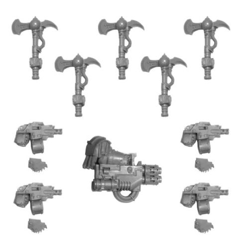 SONS OF HORUS JUSTAERIN WEAPONS SET