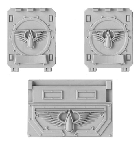 Blood Angels Rhino Doors and Frontplate