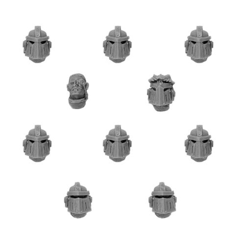 Imperial Fists MKIII Upgrade Set - Veteran Heads
