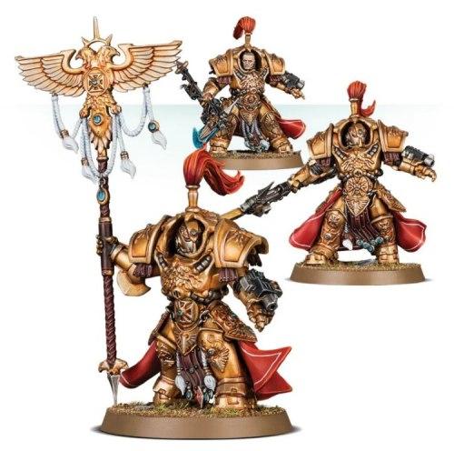 Adeptus Custodes Vexilus Praetor in Allarus Terminator Armour / Shield-Captain in Allarus Terminator Armour/Allarus Custodians