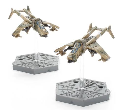 Aeronautica Imperialis Astra Militarum Vulture Gunships with Punisher Cannon