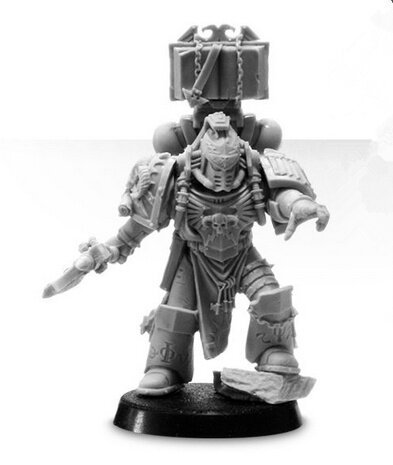 MAGISTER SEVRIN LOTH CHIEF LIBRARIAN OF THE RED SCORPIONS WITH HONOUR GUARD Bits