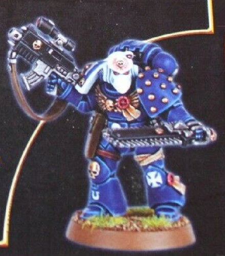 LIMITED EDITION WHITE DWARF SUBSCRIPTION 2008 SPACE MARINE VETERAN NIB (Made of resin)       Limited Edition