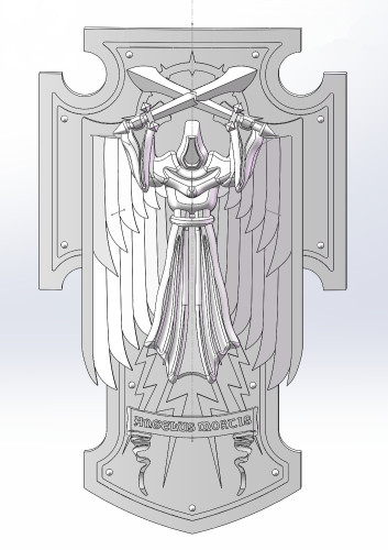 Blood Angels / Dark Angels PSM bits - Shield A
