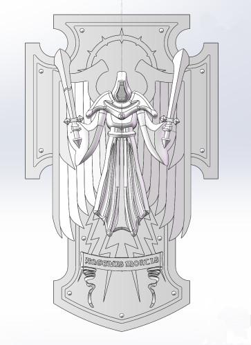Blood Angels / Dark Angels PSM bits - Shield B