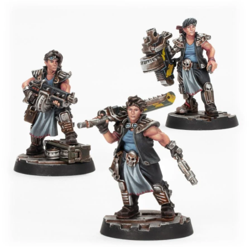 Necromunda Orlock Champion and Gangers