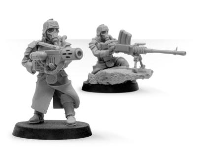 Death Korps of Krieg Grenadier Heavy Stubber and Meltagun