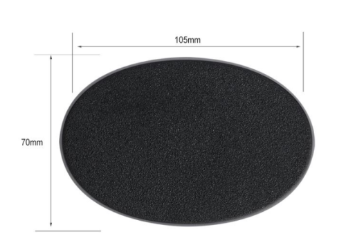 105 x 70mm oval bases