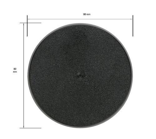 80mm Round Circle Base