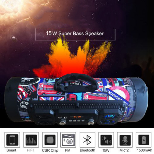 M17 High-Power Music Barrel Bluetooth Speaker