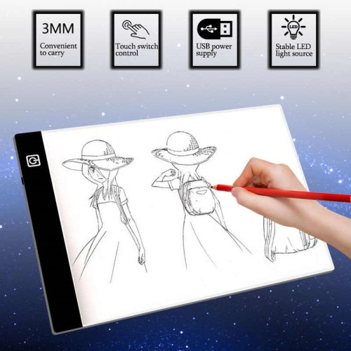 A4 Level Dimmable Led Drawing Copy Pad Board