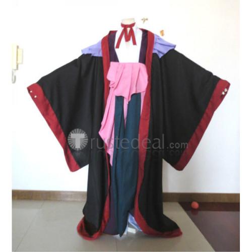Bleach Shunsui Zanpakuto Katen Kyokotsu Kimono Black Cosplay Costume