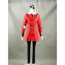 Hetalia Axis Powers Romania Vladimir Popescu Red Military Uniform Cosplay Costume