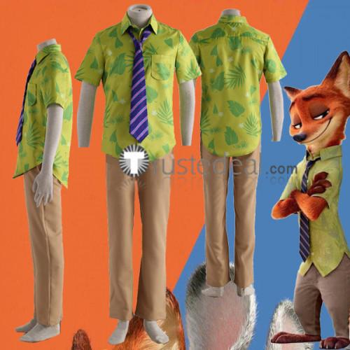 Zootopia Nick Wilde Red Fox Cosplay Costume