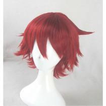 Yowamushi Pedal Naruko Shokichi Short Red Cosplay Wig