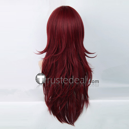 D.Gray Man Cross Marian Dark Red Cosplay Wig