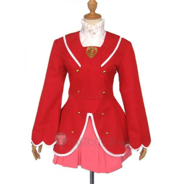 Fushigiboshi No Futago Hime Gyu Fine Red Cosplay Costume