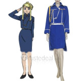 FullMetal Alchemist Winry Rockbell Military Blue Uniform Cosplay Costume