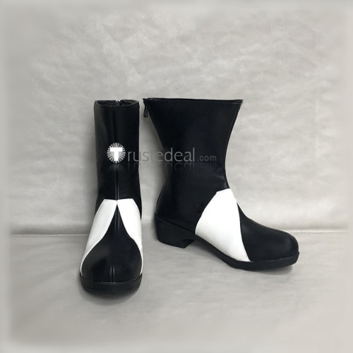 The Seven Deadly Sins 2 Revival of The Commandments Meliodas Black White Cosplay Boots Shoes