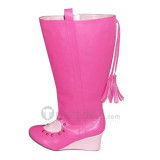 Macross Frontier Sheryl Nome Pink Cosplay Shoes Boots 2