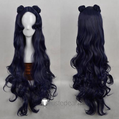 Sailor Moon Luna Human Form Dark Blue Cosplay Wig