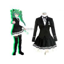 Vocaloid Secret Police Miku Hatsune Black Cosplay Costume