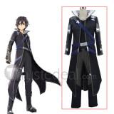 Sword Art Online Hollow Realization Kirito Black Cosplay Costume
