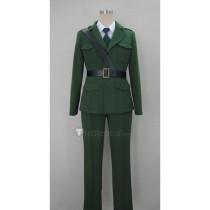 Axis Powers Hetalia England Arthur Military Green Cosplay Costume