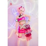 The Idolmaster Cinderella Girls Mika Jougasaki Purple Pink Cosplay Costume