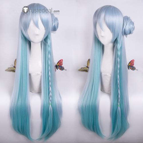 Ensemble Stars Fine Wataru Hibiki Blue Gradient Cosplay Wig 80cm